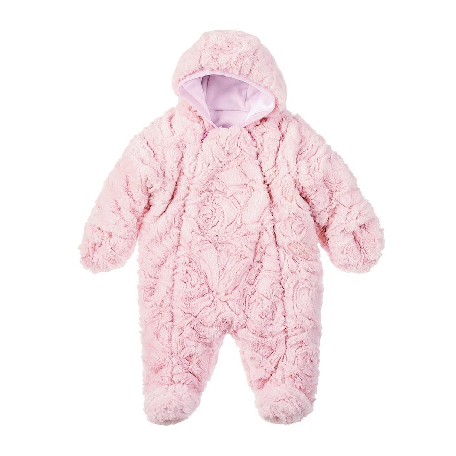 Sterntaler Girl s Combinaison avec capuche en fourrure polaire rose pâle