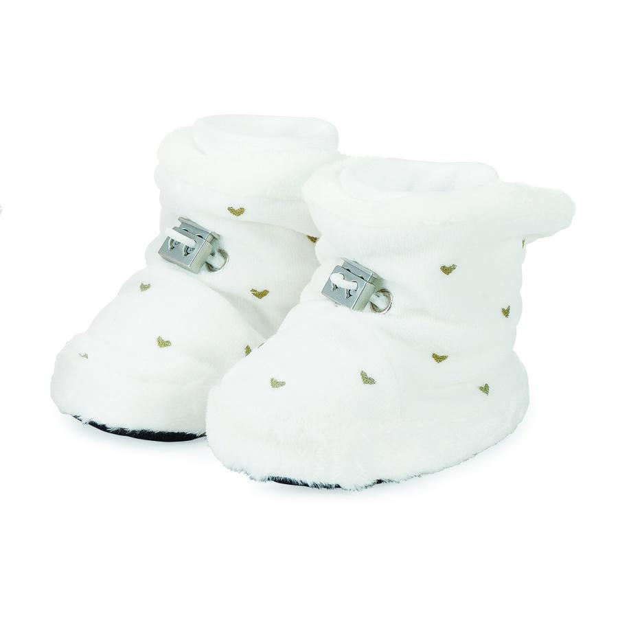 Sterntaler Girl s Chaussure bébé Nicki Coeur écru Nicki