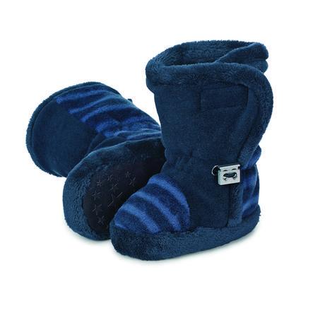 Sterntaler Laarzen Microfleece strepen marineblauwe laarzen