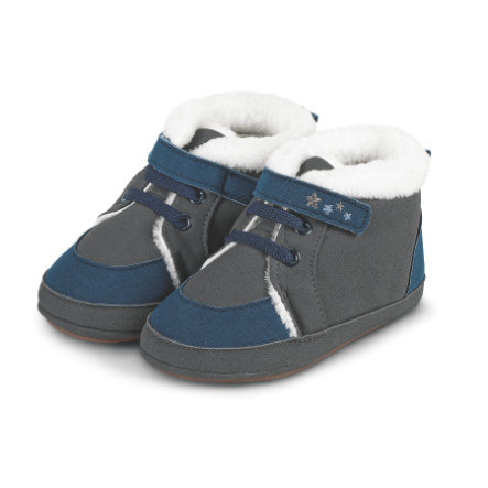 Sterntaler Boys Baby Shoe Nubuk gris hierro