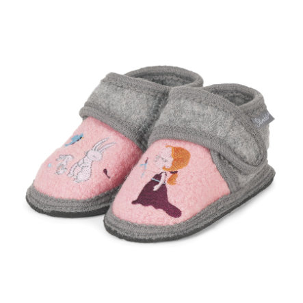 Sterntaler Girl s pantoffel parelmoer roze