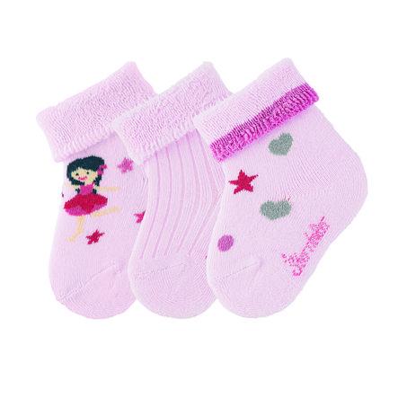 Sterntaler Baby-Söckchen 3er-Pack Fee rosa