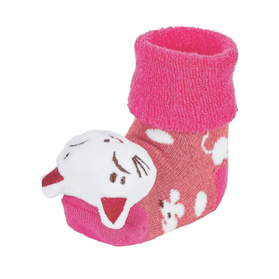 Sterntaler Girls Calzini a sonaglio per neonati a bacca di gatto rosso melange