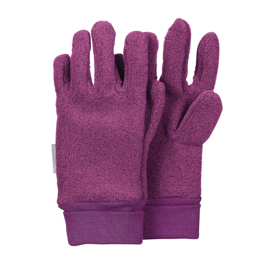 Sterntaler Girl s Gant de doigt Microfleece prune