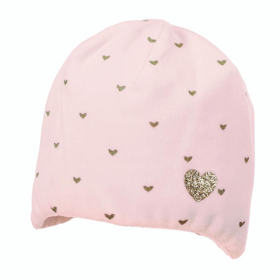 Sterntaler Beanie Nicki Corazón rosa pálido