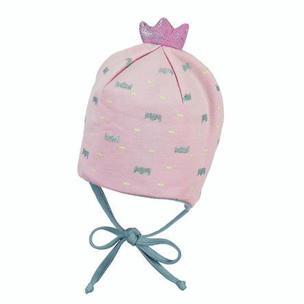 Sterntaler Casquette couronne jersey rose pâle