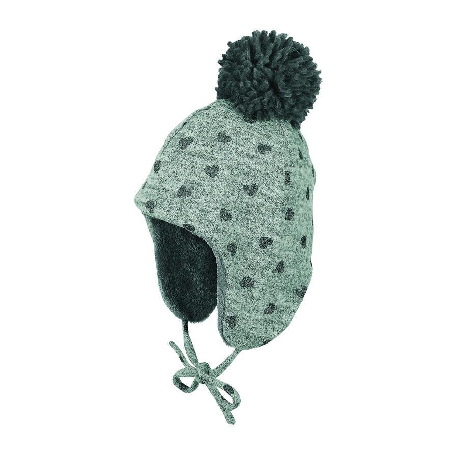 Sterntaler Inka-Mütze Glitzer Pompon rauchgrau