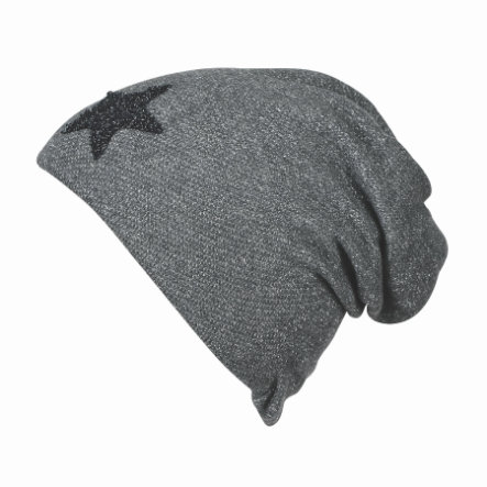 Sterntaler Sweat Slouch-Beanie en tissu gris fer à repasser
