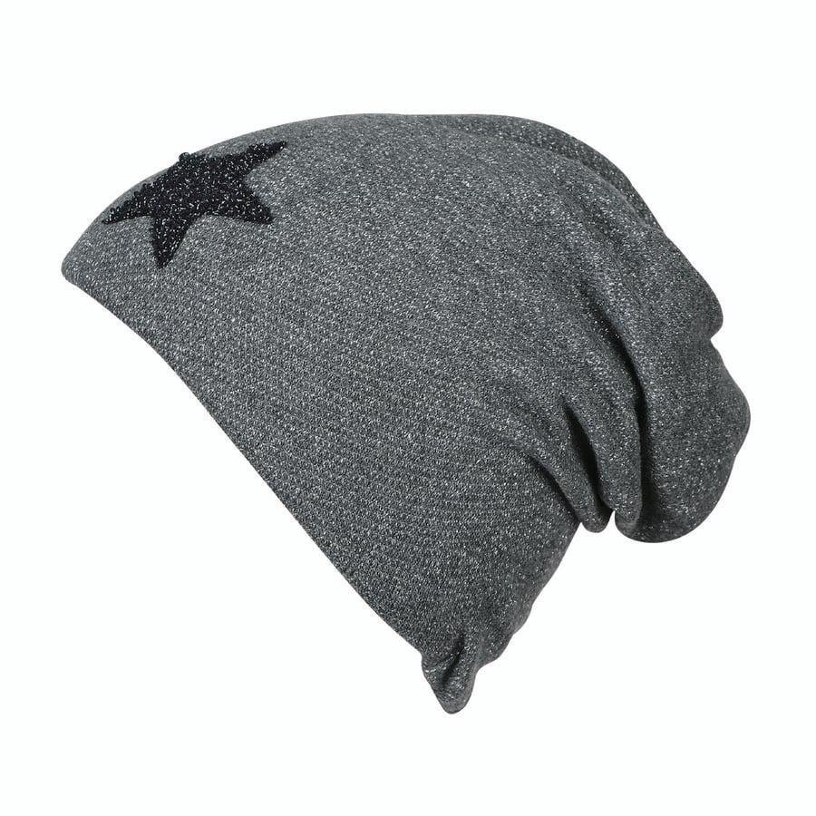 Sterntaler Slouch-Beanie tkanina potowa żelazo szare