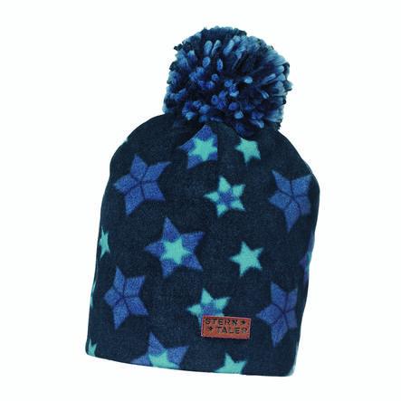 Sterntaler Slouch-Beanie Microfleece Sterne marine