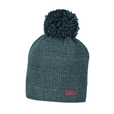 Sterntaler Bonnet Bonnet Pompon gris fer
