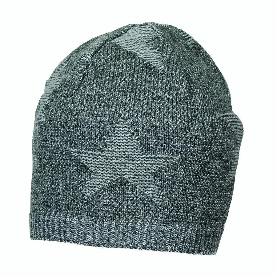 Sterntaler Dzianinowe gwiazdy czapki antracytowe