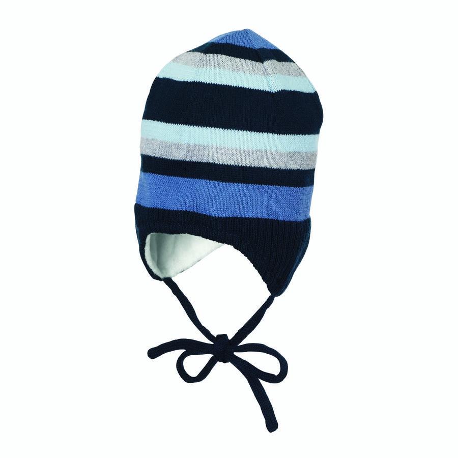 Sterntaler Gebreide cap cap strepen marine