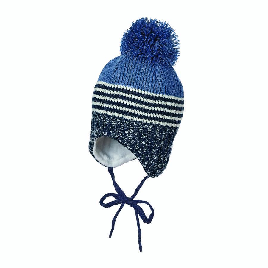 Sterntaler Bonnet enfant tricoté pompon bleu