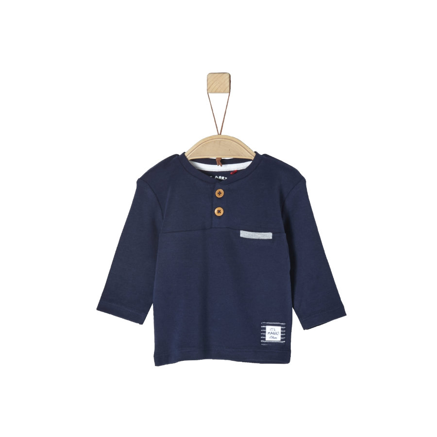 s.Oliver Boys Camicia manica lunga blu scuro