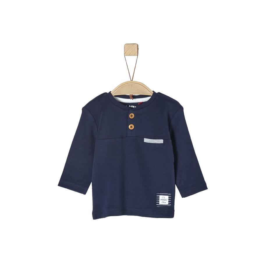 s.Oliver Langermet skjorte for gutter mørkeblå
