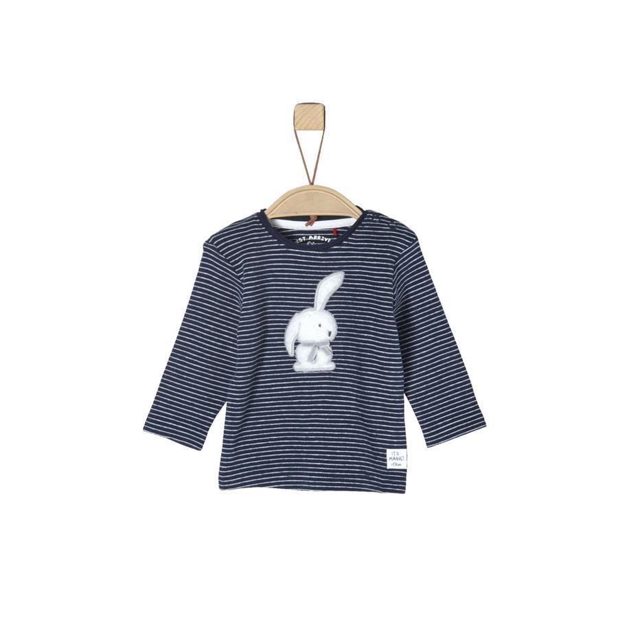 s.Oliver Girl s chemise à manches longues rayures bleu foncé