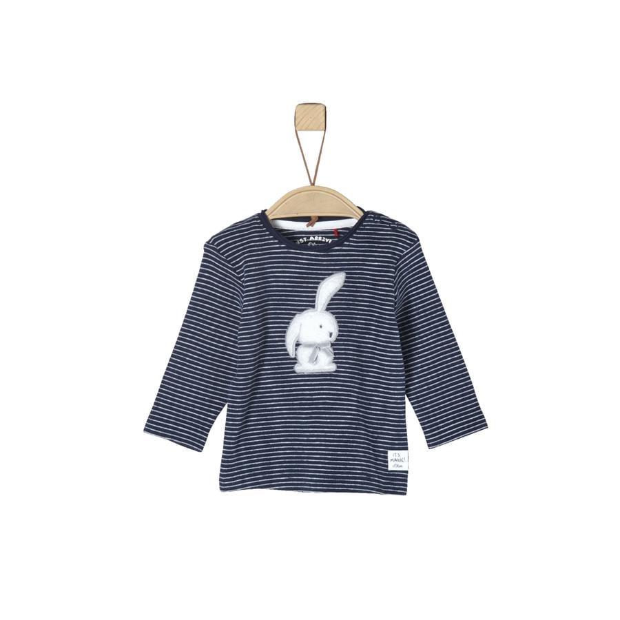 s.Oliver Girls Langarmshirt dark blue stripes