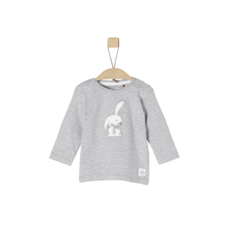 s.Oliver Girl camicia manica lunga s grigio chiaro a righe melange grigio chiaro