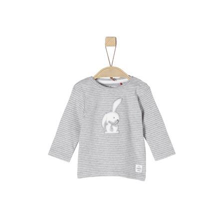 s.Oliver Girl s chemise manches longues gris clair à rayures mélangées