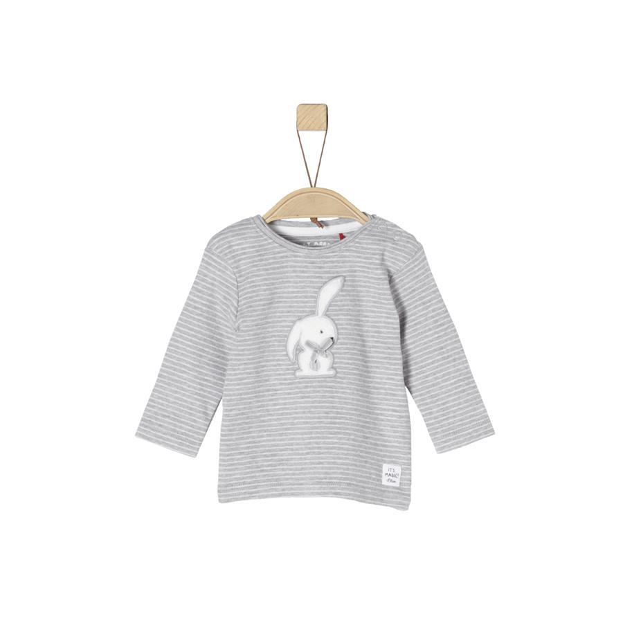 s.Oliver Girl s shirt met lange mouwen lichtgrijze melangestrepen