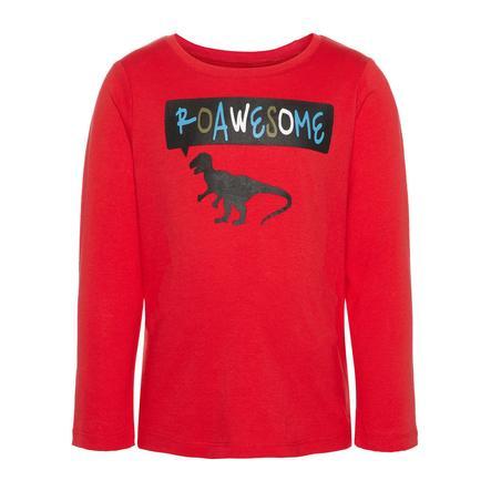 NAME IT Tyttöjen pitkähihainen paita Vagno True Red