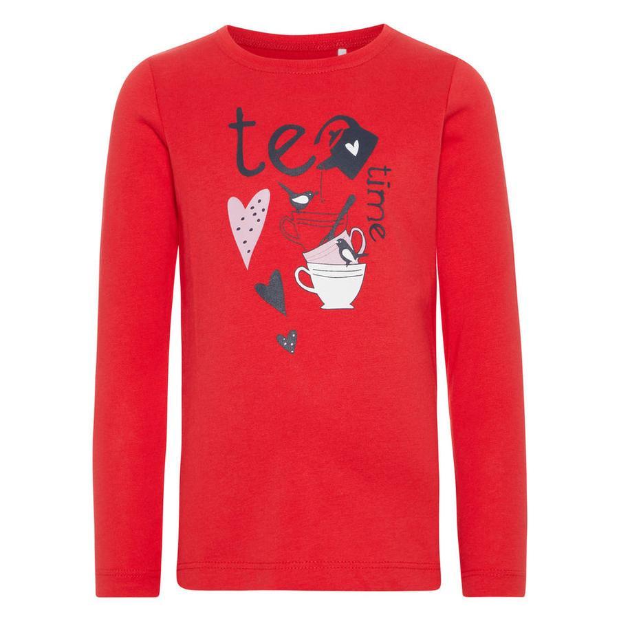 name it Girl s Overhemd met lange mouwen Veen True Red