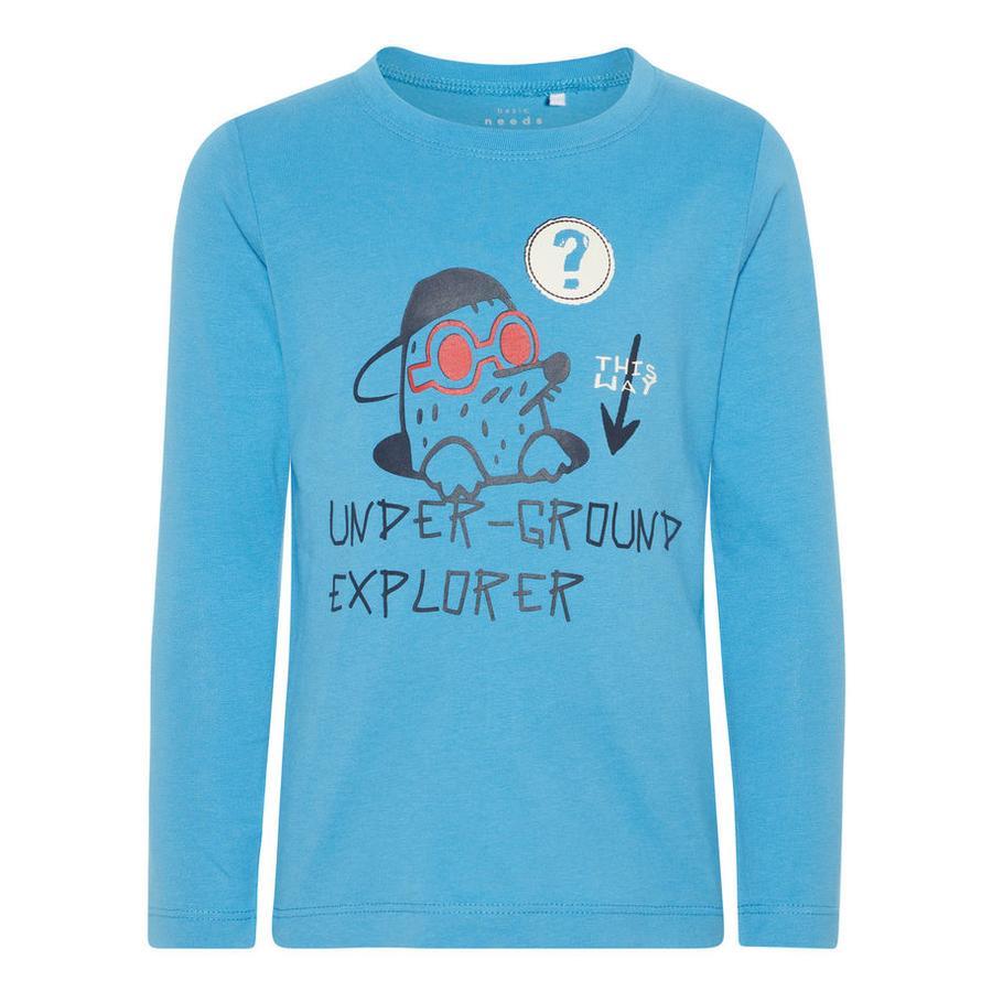 name it Boys Overhemd met lange mouwen Victor cendre blauw