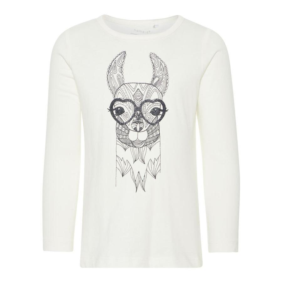 name it Girl s camisa de manga larga Lassille blanco nieve