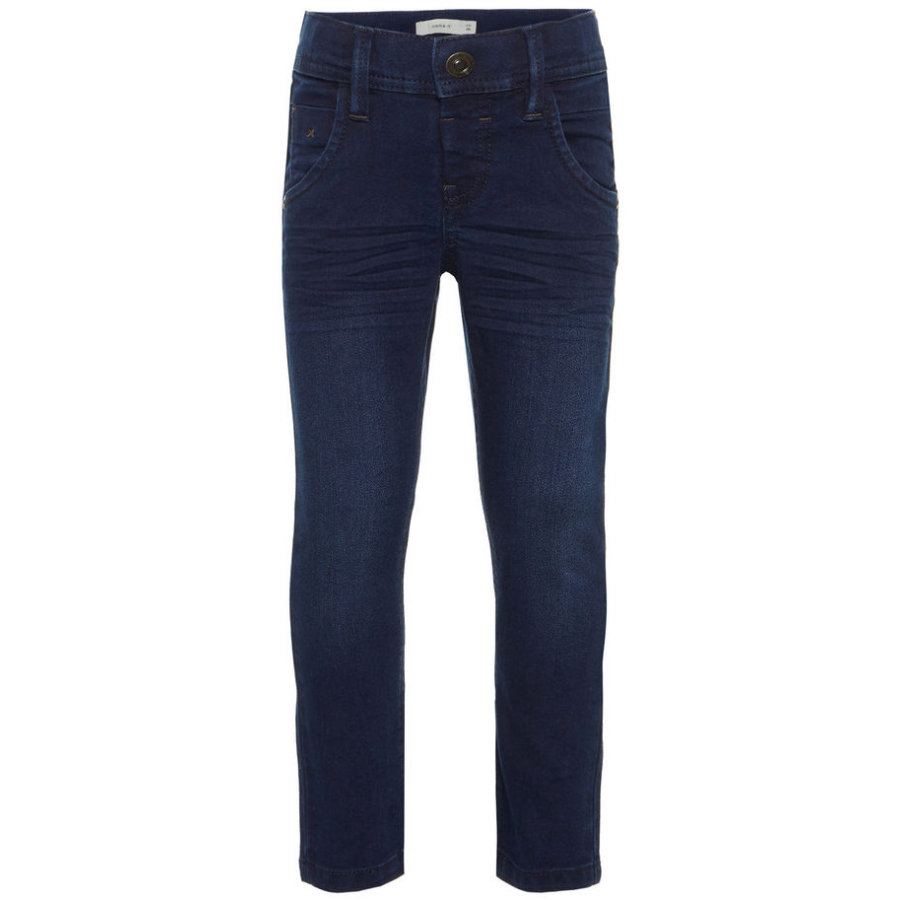 name it Boys Jeans Silas dark blue denim
