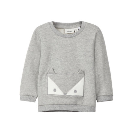 name it Sweatshirt Uxola grijs melange