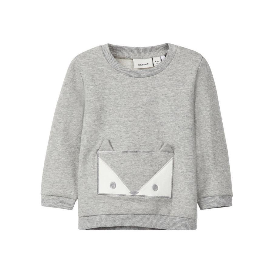 name it Sweatshirt Uxola grey melange