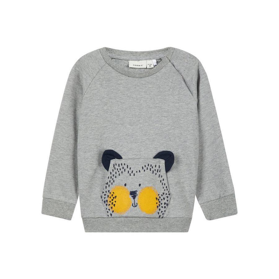 name it Boys Sweatshirt Laust grey melange