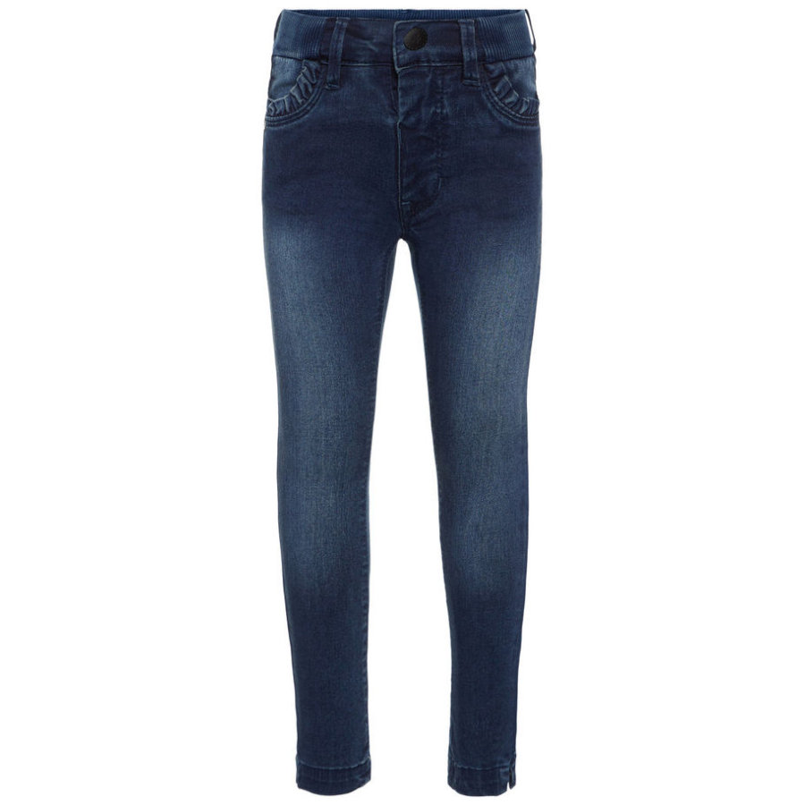 name it Girls Jeans Bibi Trunte medium blue denim