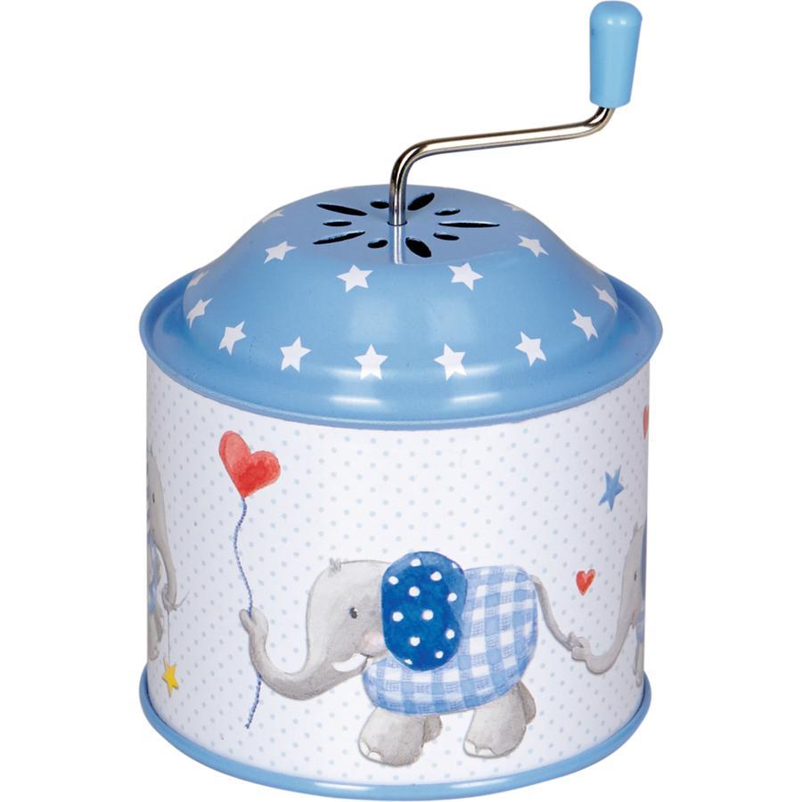 COPPENRATH Speldosa Elefant Babylycka, ljusblå