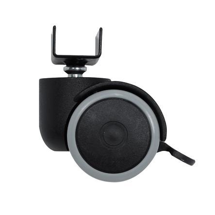 Alvi® Kit roulettes de parquet pour lit cododo Alvi noir