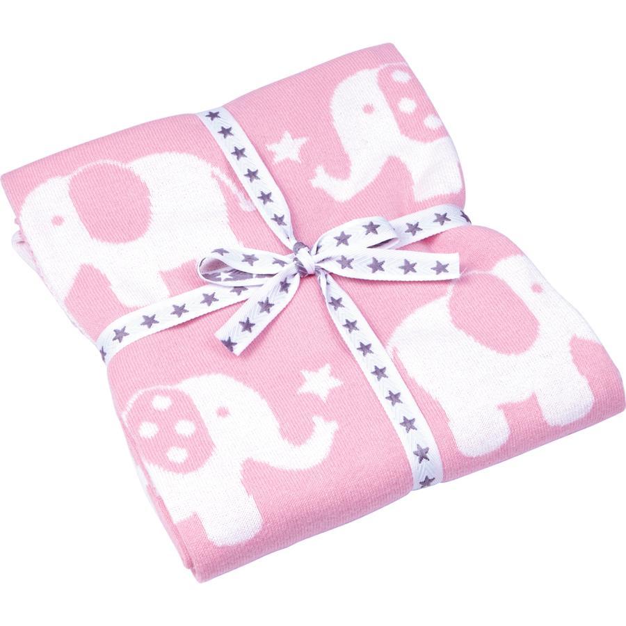COPPENRATH Coperta Elefant Baby a maglia felicita' felicita' rosa