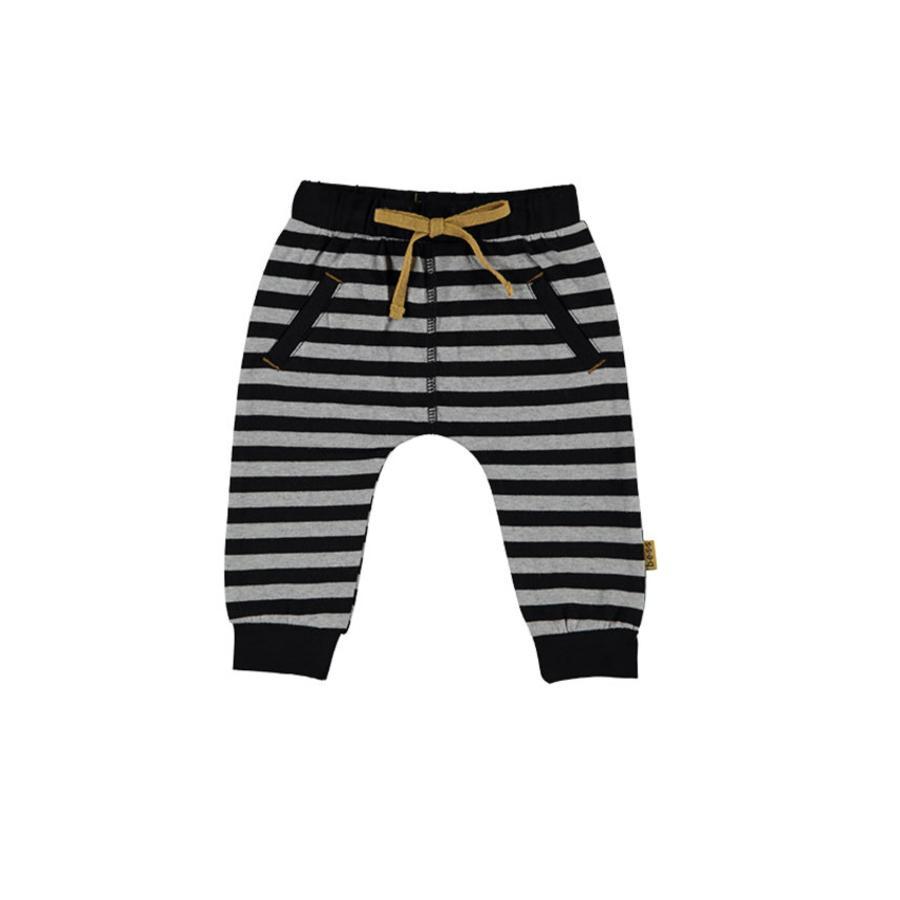 b.e.s.s Pantalón de bebé Gris rayado