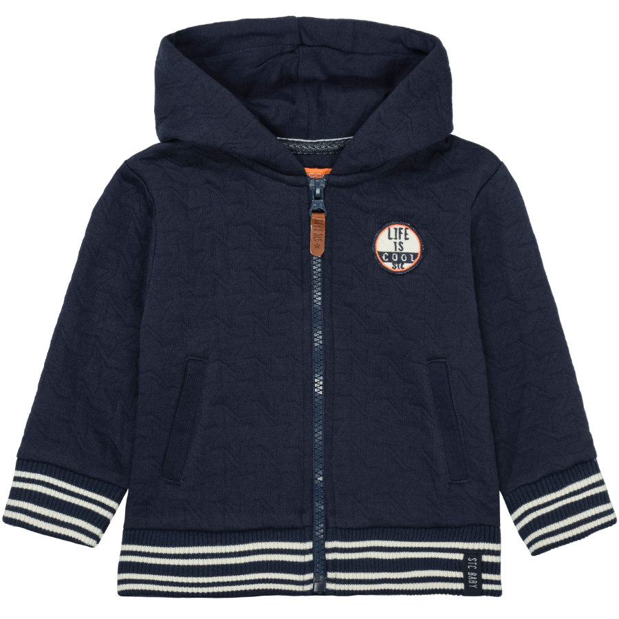 STACCATO Boys Sweatjacke dark blue structure