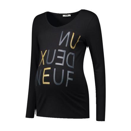 LOVE2WAIT Gravid skjorte Un Deux Neuf Svart