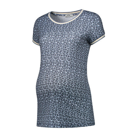 LOVE2WAIT Umstandsshirt Leopard blue