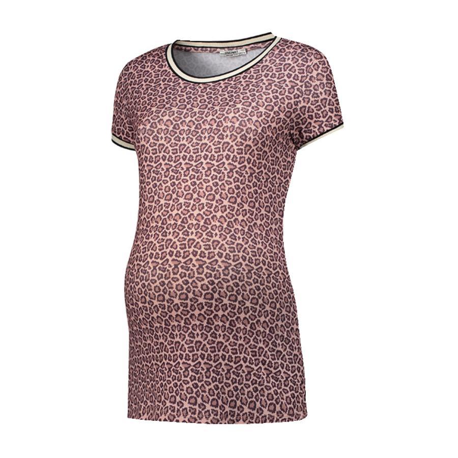 LOVE2WAIT  Těhotenská košile leopardí růžová