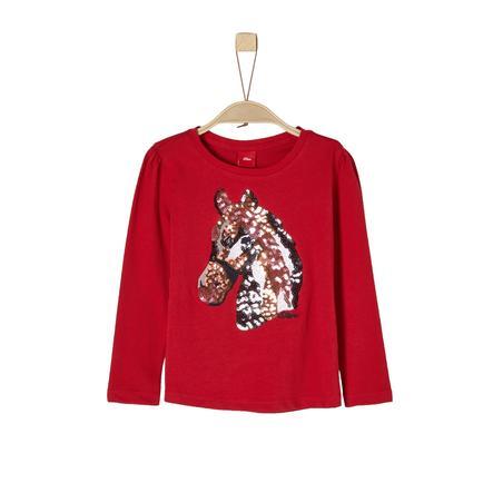 s.Oliver Girls Langarmshirt dark red