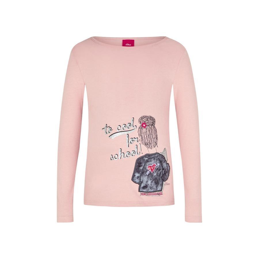 s.Oliver Girl s manica lunga camicia a manica lunga rosa polveroso