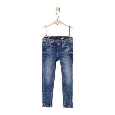 s.Oliver Girls Tregging-Jeans blue denim stretch
