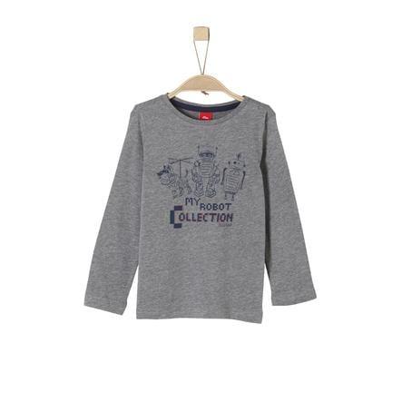 s.Oliver Boys Shirt met lange mouwen donkergrijs melange