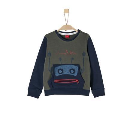s.Oliver Boys Bluza bluza ciemnozielona
