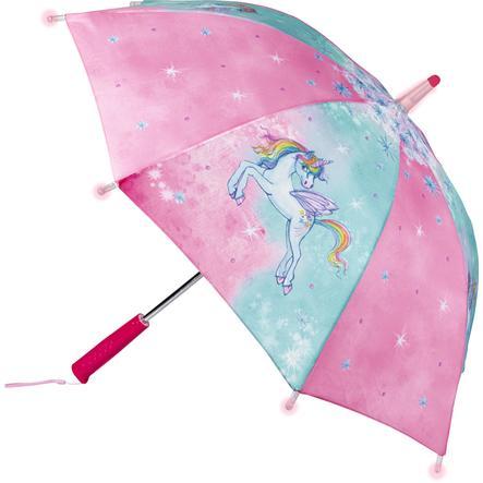 COPPENRATH Regenschirm mit Lichteffekt Einhorn-Paradies
