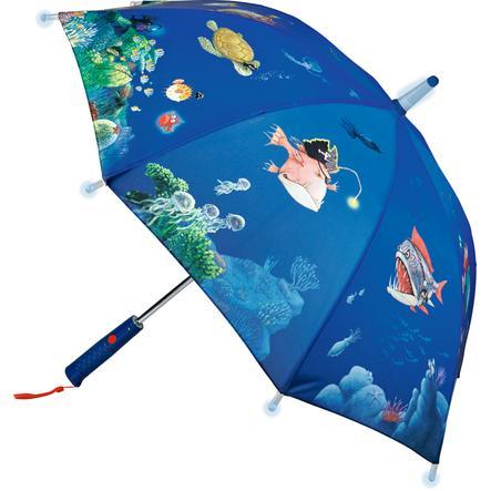 COPPENRATH Paraguas Capitán Sharky, Fondo del mar (con efectos de luz)