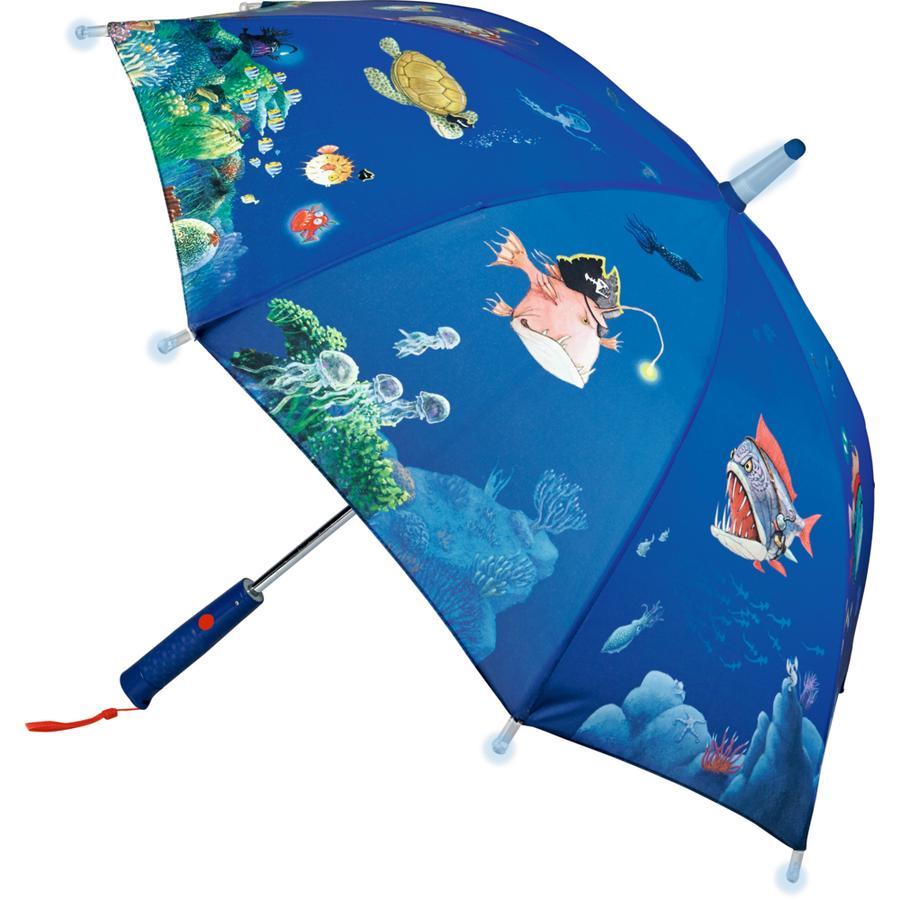 COPPENRATH Regenschirm Capt'n Sharky Tiefsee (mit Lichteffekten)